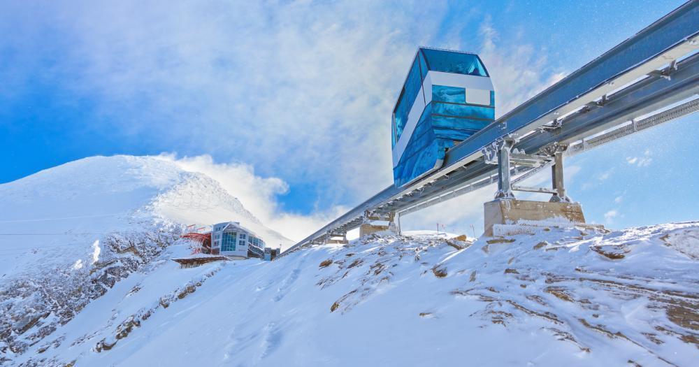 Kaprun - Blick auf das Gletscher Shuttle