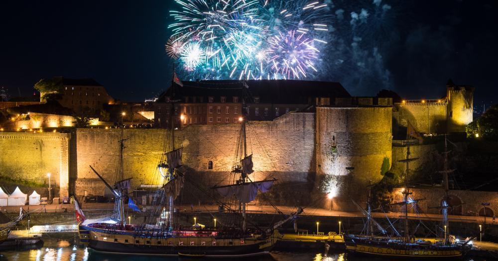Brest - Blick auf die Festung von Brest