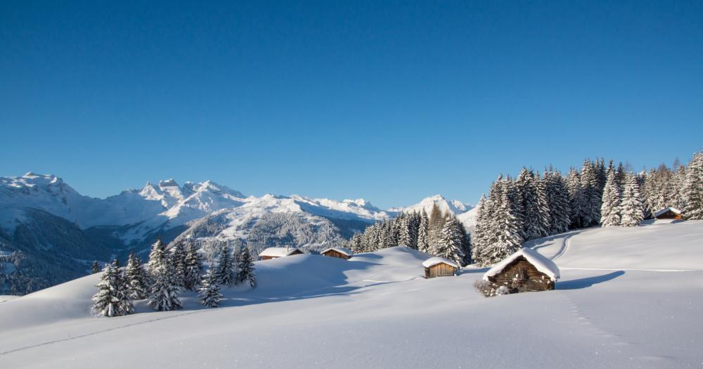 Morgins - Winter in den Bergen
