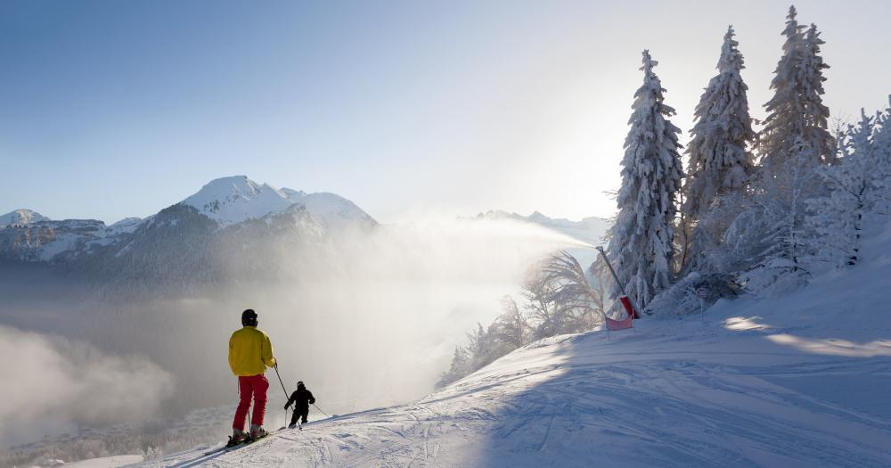 Morgins - Schneeschuhwanderung in den Bergen