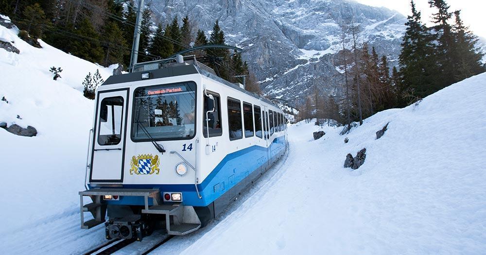 Garmisch-Patenkirchen - Die Zahnradbahn im Winter
