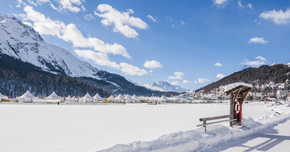 St.Moritz - Dorf am St.Moritzer See