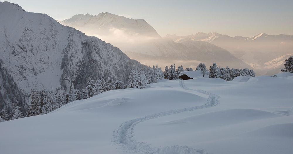 Mayrhofen - Spuren im Tiefschnee
