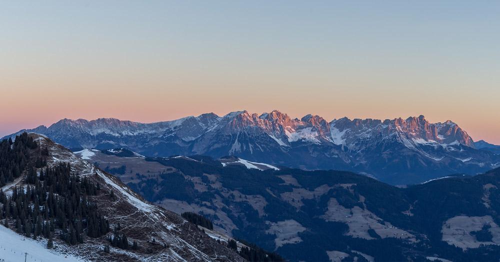 Wilder Kaiser -  In der winterlichen Abendsonne