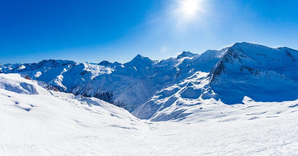 Samnaun -Tolles Winterpanorama