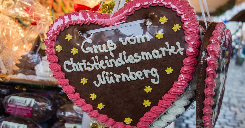 Nürnberger Christkindlesmarkt - Lebkuchen Grüße aus Nürnberg