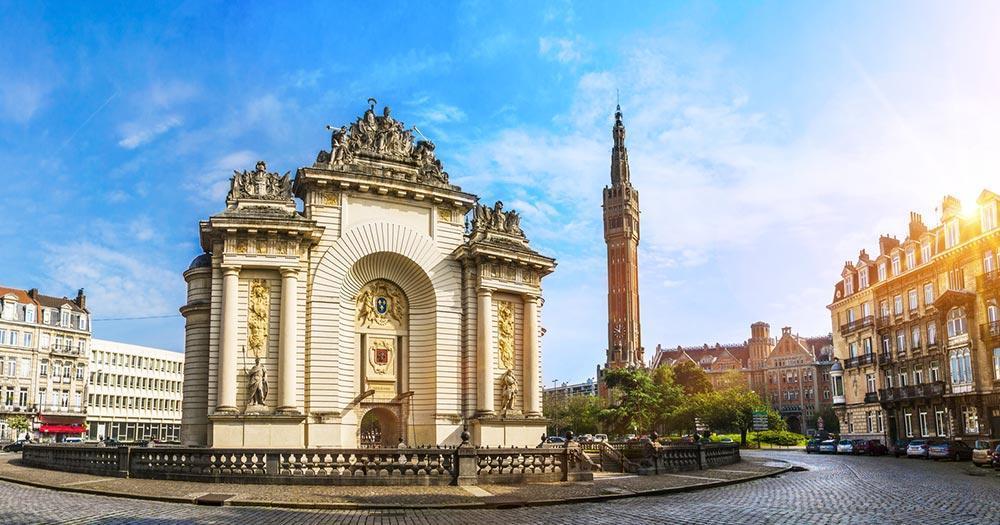Lille - Belfry des Rathauses von Lille