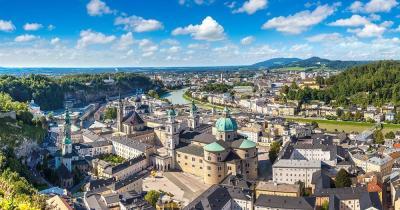 Salzburg - Panoramablick auf die Altstadt von Salzburg