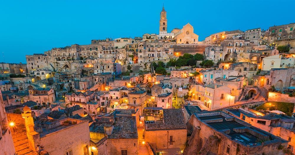Matera - Altstadt im Abendlicht