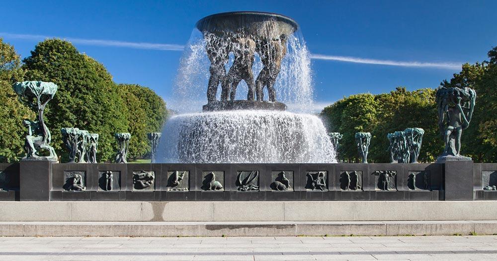 Oslo - Der Brunnen im Vigeland Park