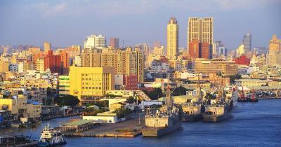 Kaohsiung - Skyline am Hafen