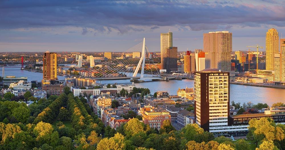 Rotterdam - Panoramablick auf Rotterdam