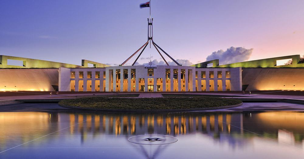 Canberra / Das Parlament von Canberra