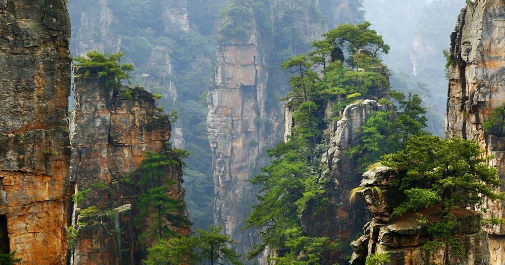 Hunan - Limestone Kliff in Zhangjiajie