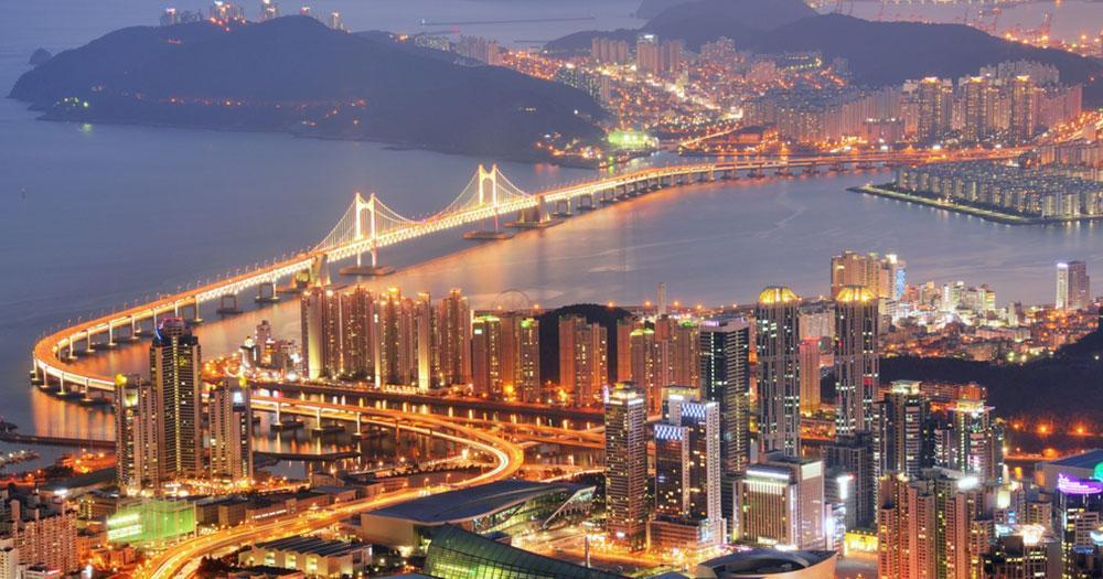 Busan - Skyline von Busan