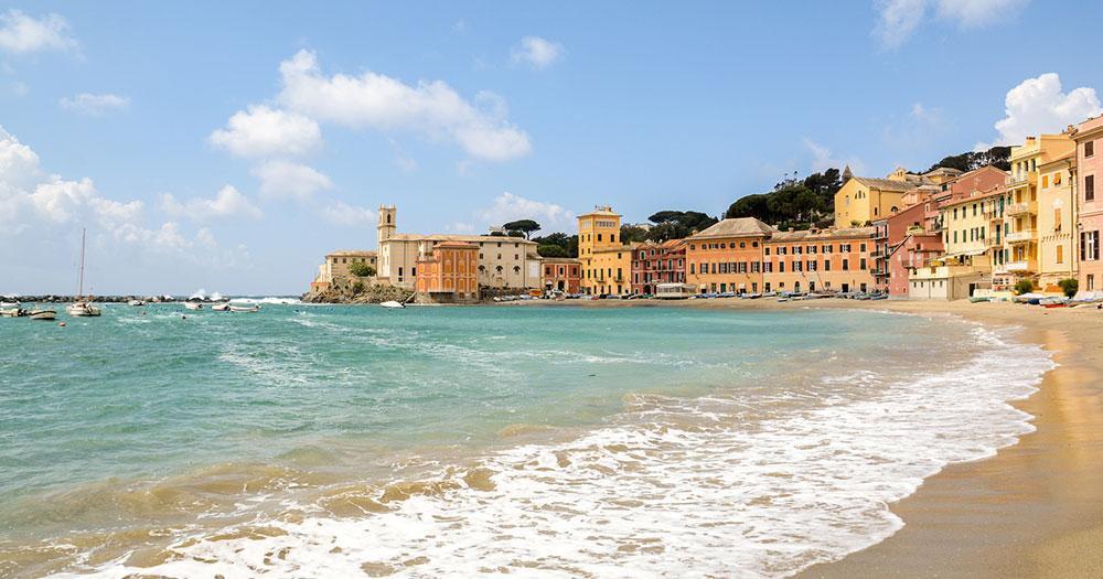 Saint Tropez - Strand mit Hotels