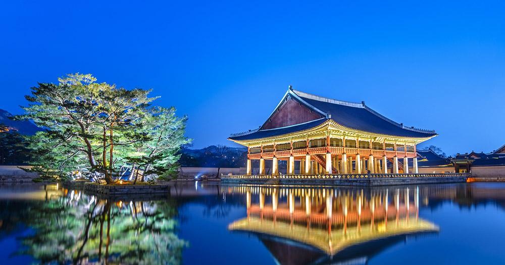 Seoul - Gyeongbokgung Palast am Abend