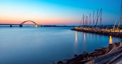 Die Insel Fehmarn - Blick auf die Fehmarnsundbrücke
