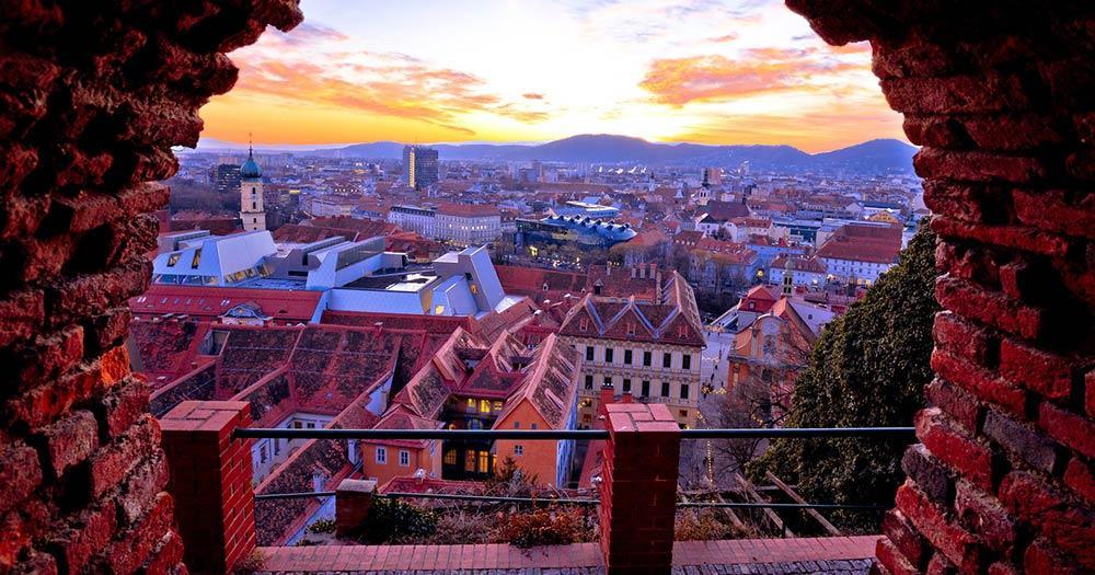 Graz - Blick auf die Altstadt