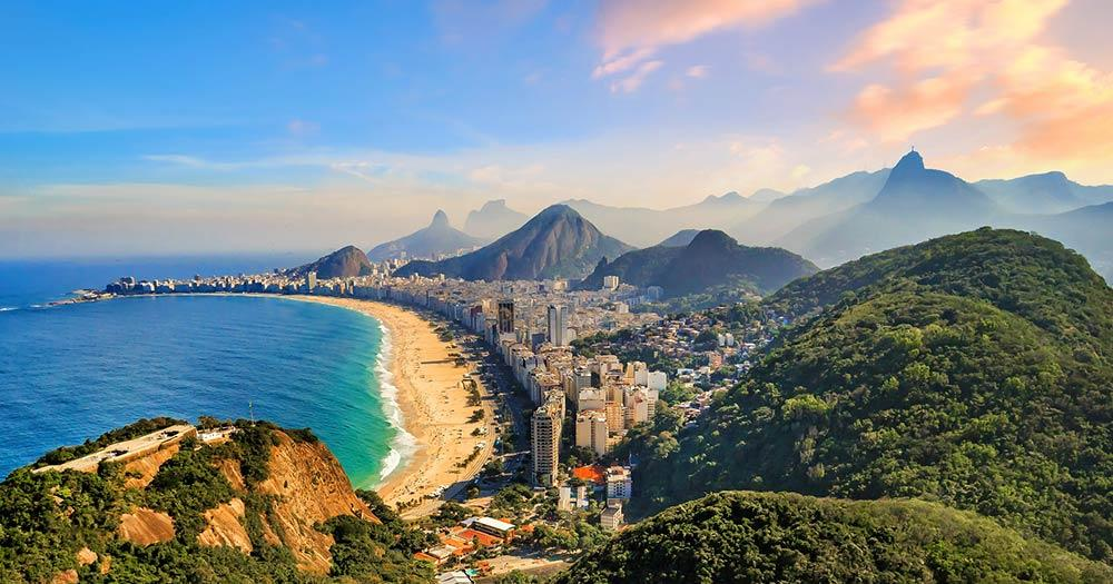 Rio de Janeiro - Ipanema mit Regenwald