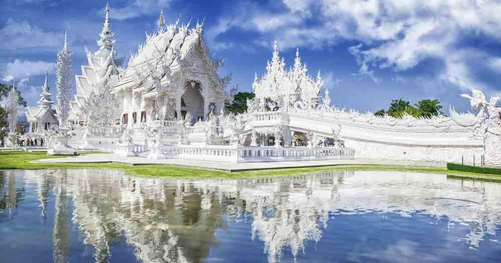 Chiang Rai - die weißen Tempel von Wat Rong Khun