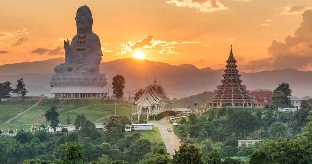 Chiang Rai - Wat Hyua Pla Kang Tempel