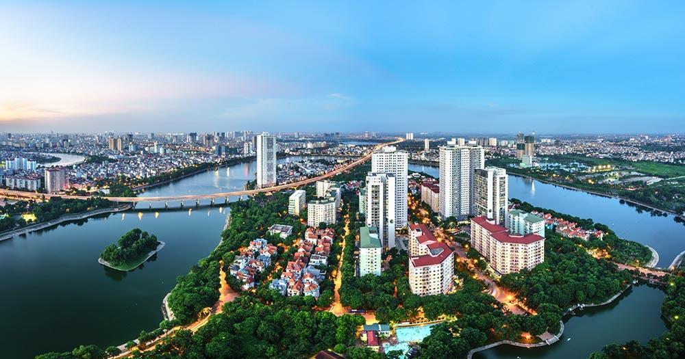Hanoi - Luftaufnahme vom Stadtkern