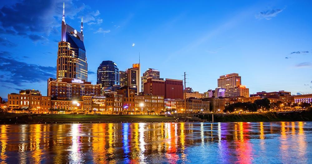 Nashville - Skyline bei Nacht