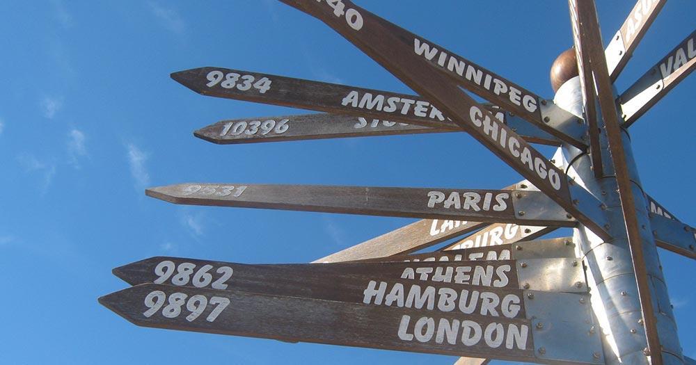 Plettenberg Bay - Wegweiser in die ganze Welt