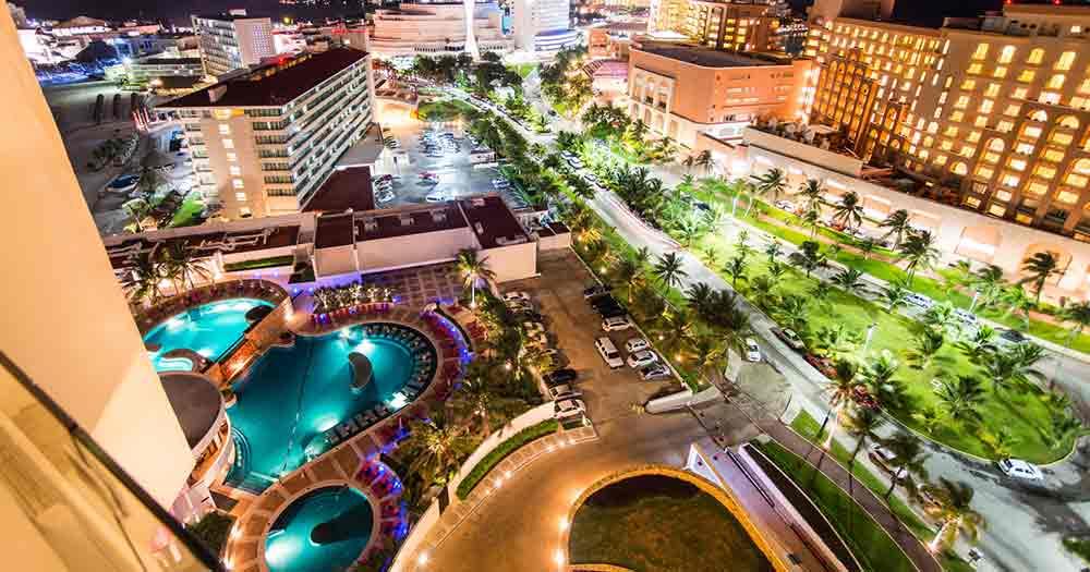 Cancun - Blick auf die Promenda von Cancun