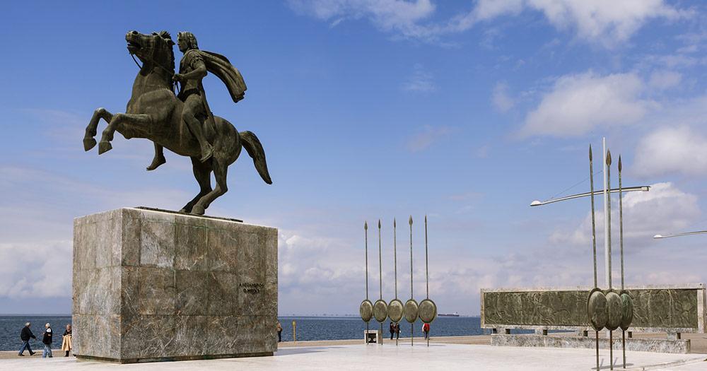 Thessaloniki - Statue von Alexander der Große