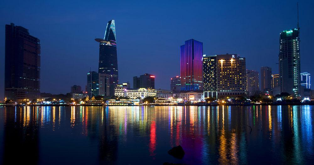Ho-Chi-Minh-Stadt - Skyline am Abend