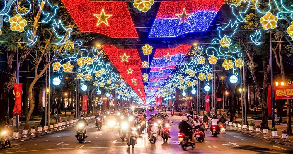 Ho-Chi-Minh-Stadt - Abendverkehr