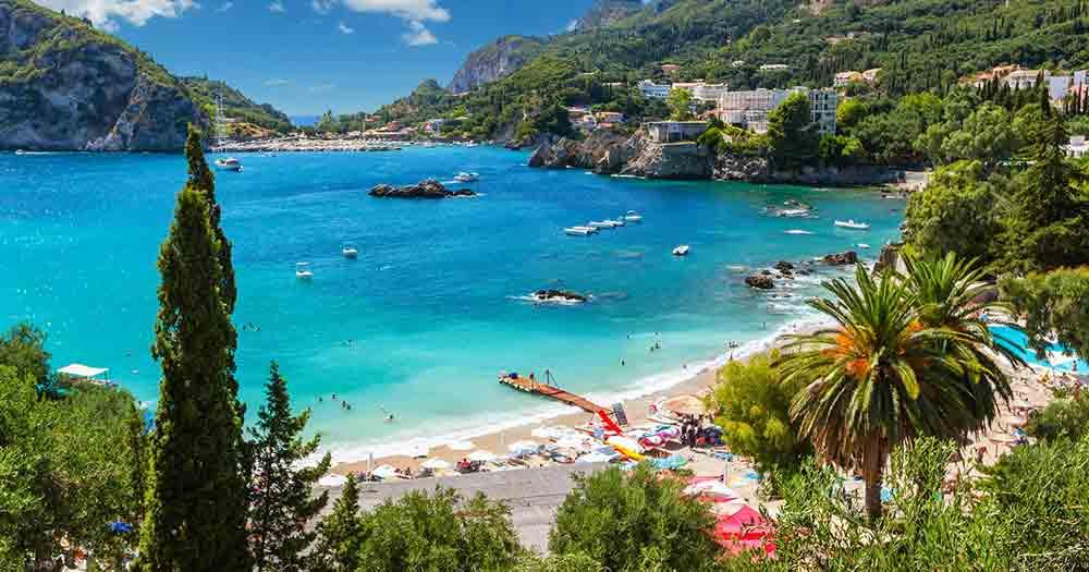 Korfu - traumhafter Ausblick auf das Meer