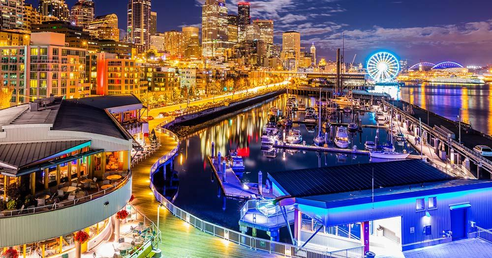 Seattle - Nightlife am Meer