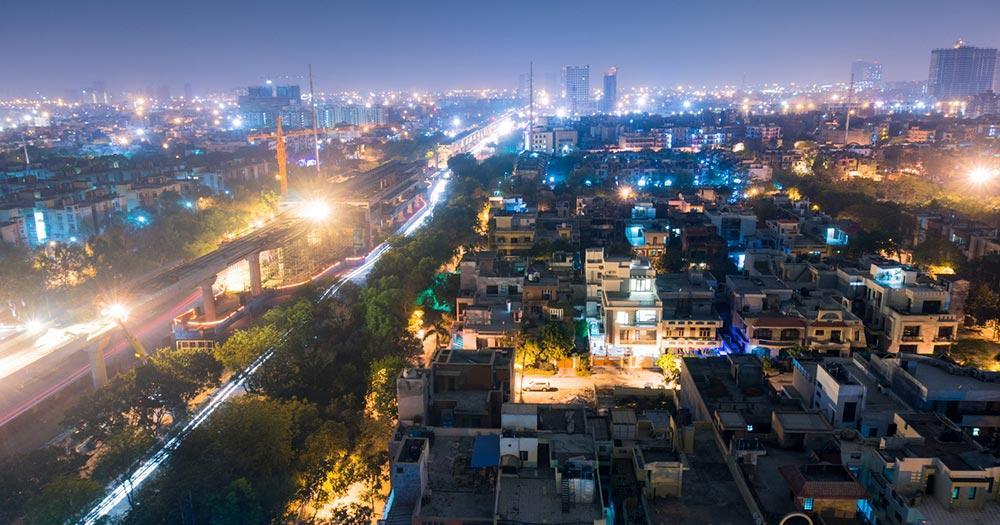 Delhi - Nachtpanorama