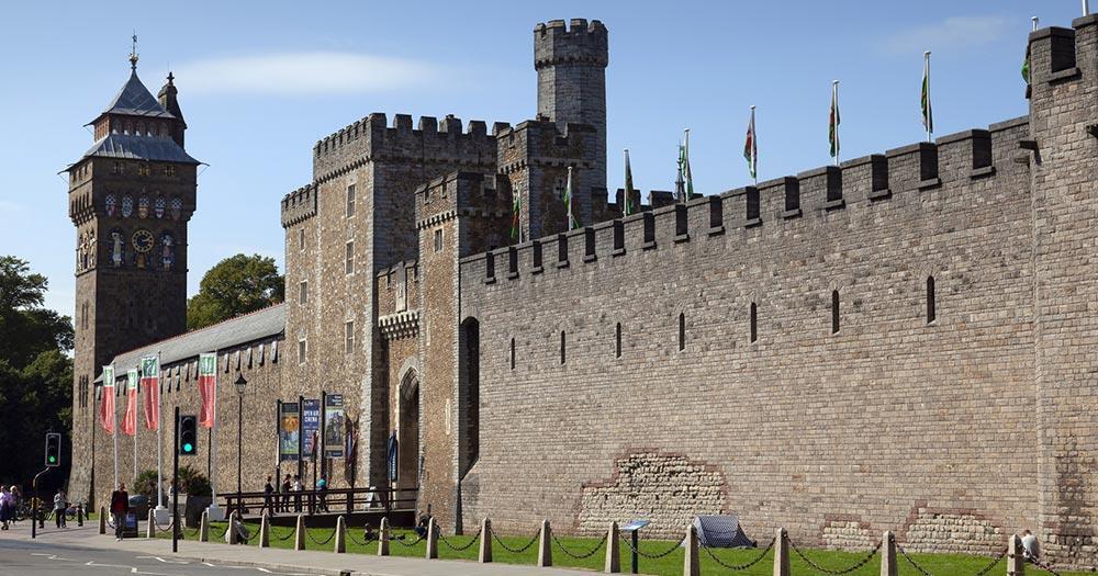 Cardiff - Burgmauer