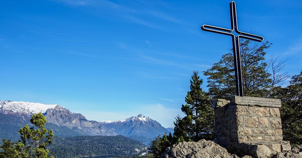 Bariloche - Gipfelkreuz am Cerro Campanario