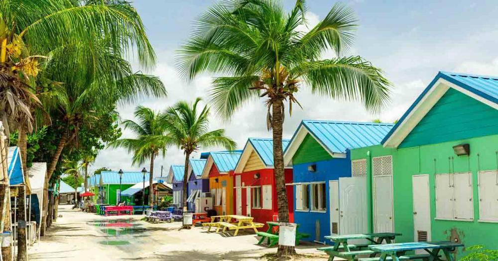 Barbados - farbige Häuser