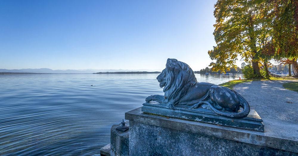 Starnberger See - Löwenstatue