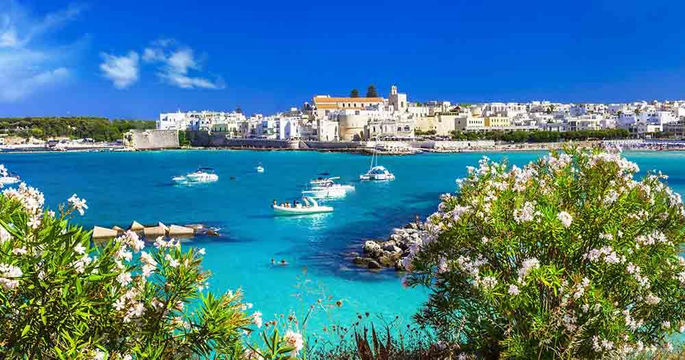 Apulien - Traumhafter Ausblick aufs Meer