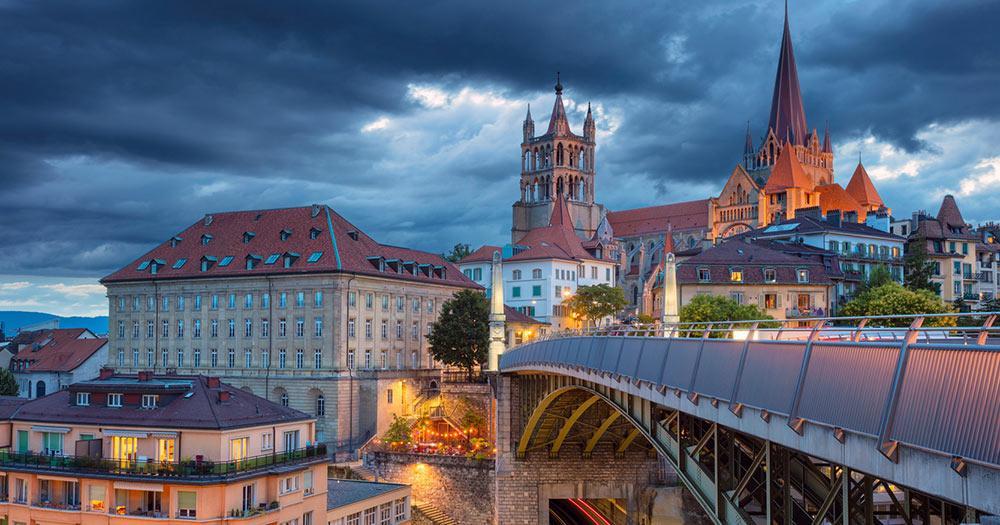 Lausanne - Panoramablick