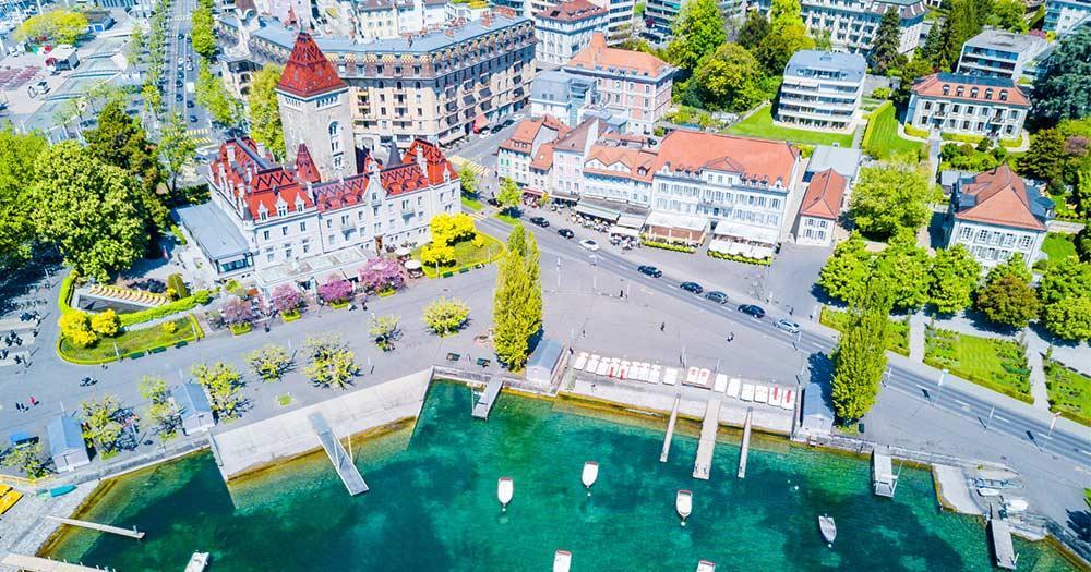 Lausanne - Vogelperspektive
