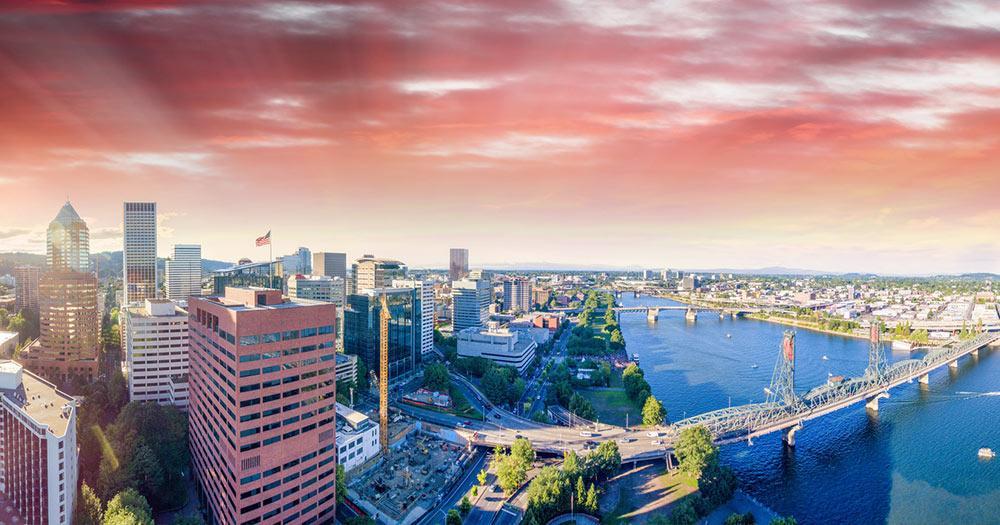 Portland - Skyline und Hafen