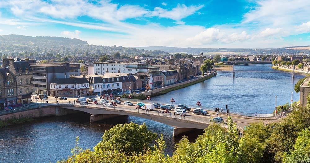 Inverness - Blick auf die Stadt