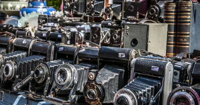 Portobello Road Market - gebrauchte Fotoapparate