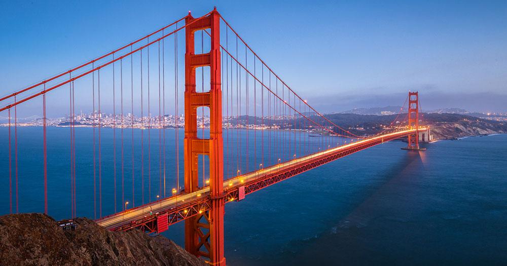 Kalifornien - Die Golden Gate Bridge von San Francisco
