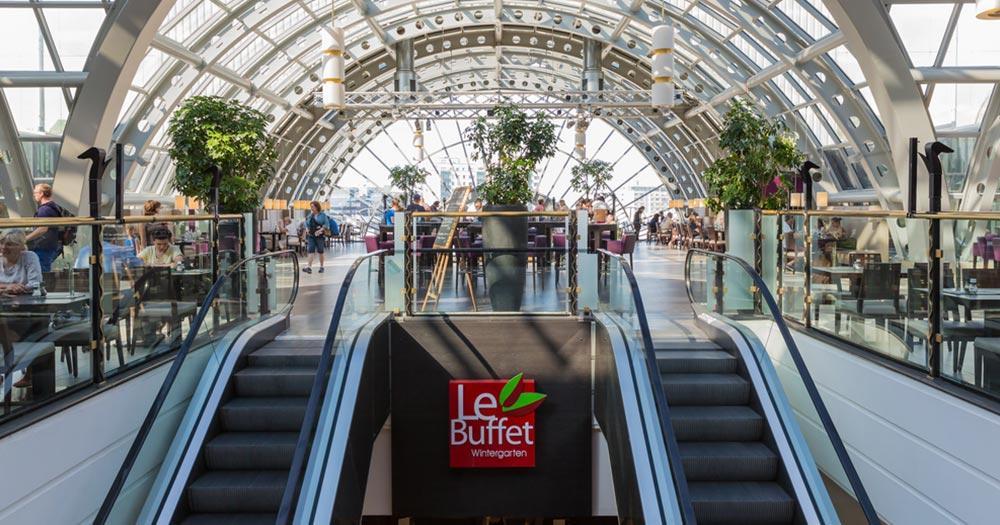 KaDeWe - Rolltreppe zum Buffet
