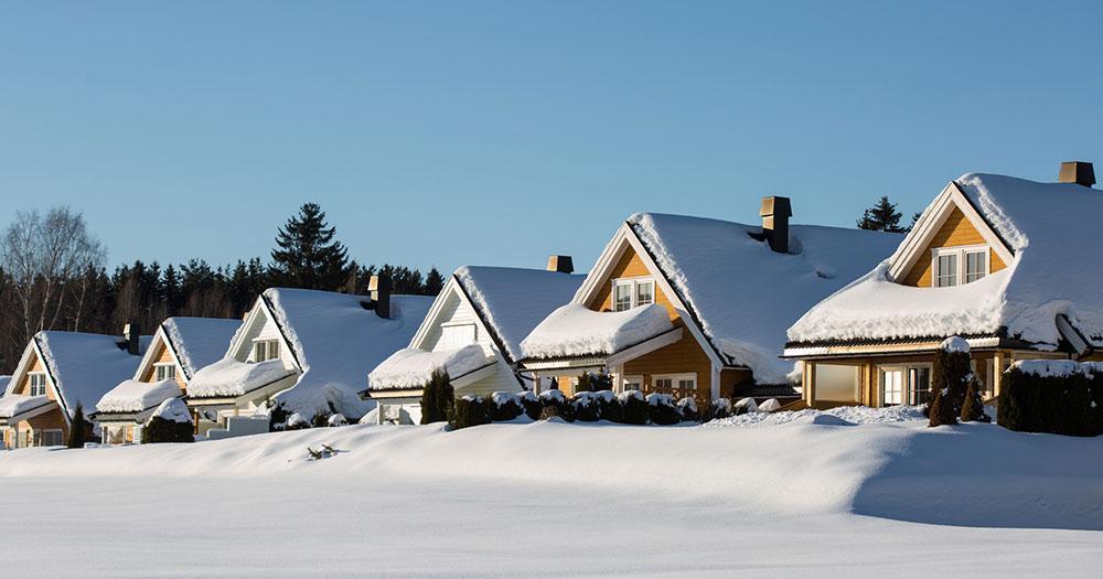 Lillehammer - Häuser im Winter