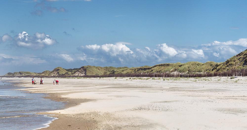 Ostfriesische Inseln - Strand am Westende